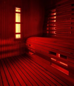 picture of an infrared sauna
